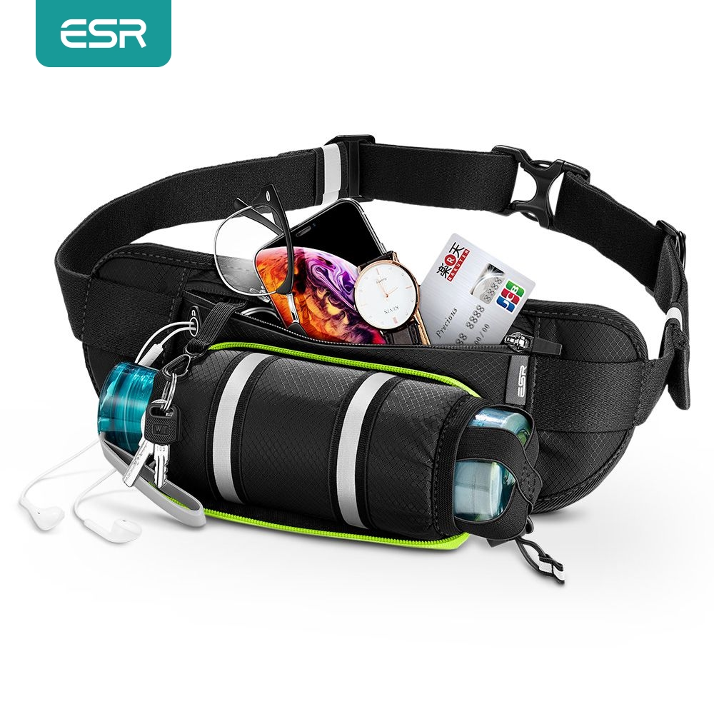 ESR Waist Bag for Outdoor Sport Running Cycling Men Women Pouch Sports Bag with Water Bottle Holder Organizer Phone Belt Bag
