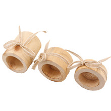 3pcs Lightweight With Rope Party Craft Atmosphere Office Wooden Stand Home Decor Candle Holder Set Romantic Candlestick Gift(China)