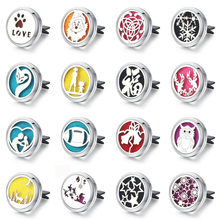 Christmas Car Air Diffuser Stainless steel Vent Freshener car Essential Oil Diffuser perfume Aromatherapy Necklace Locket(China)