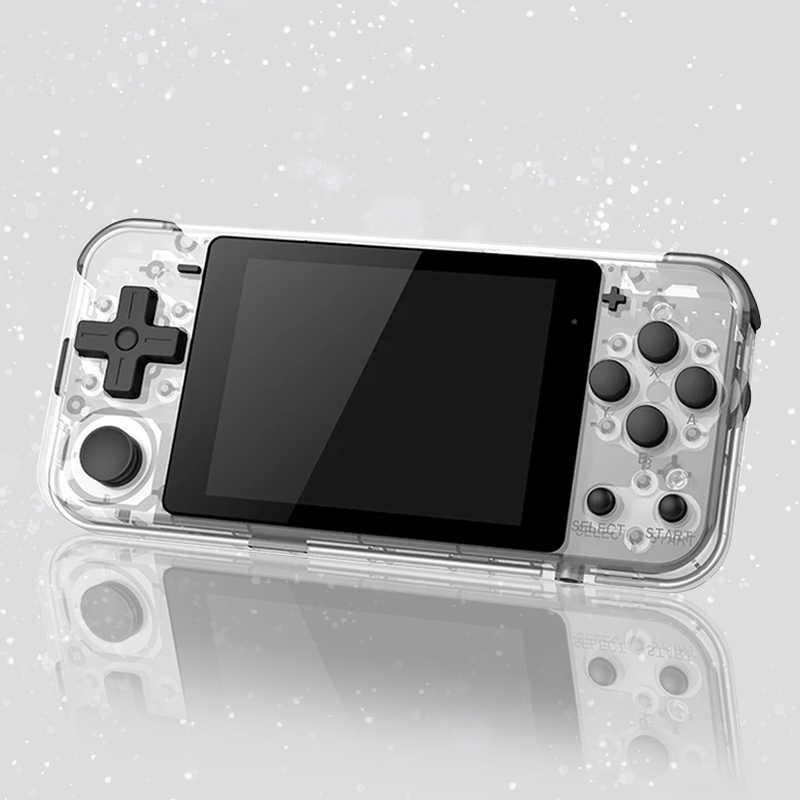 POWKIDDY Q90,คอนโซลเกม Retro,3 นิ้วหน้าจอ IPS เปิดระบบ Dual มือถือ,วิดีโอเกมมือถือสนับสนุน PS1,เกม q90