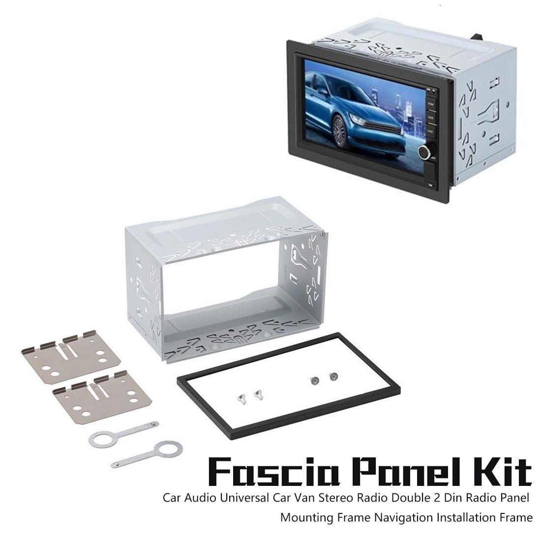 Doppio 2 Din Radio Pannello Telaio di Montaggio di Navigazione Installazione Framecar Audio Iso Universal Car Van Stereo Radio
