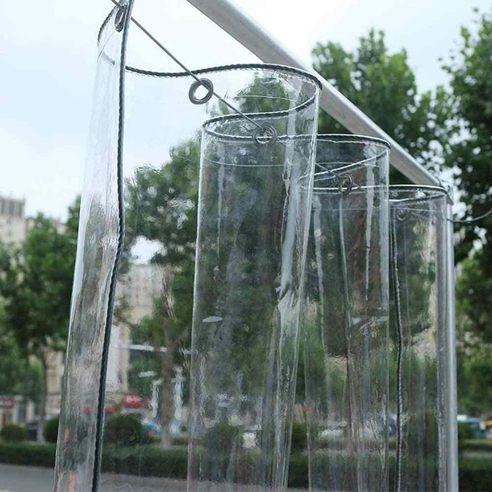 Lona De PVC Transparente con Ojales M/úLtiples Funciones Cubierta Impermeable para Plantas A Prueba De Lluvia Toldos De Plantas para Muebles Jard/íN BWBG Lona Impermeable Invernadero Plantas
