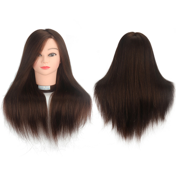 18 inch wig mannequin head Wig tripod Hairdresser Manniquin heads Doll head  Long Hair Hairstyle Practice head