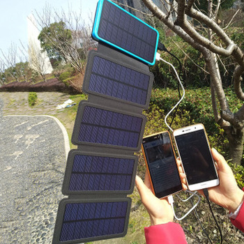 Solar power bank Folding Solar panel charger outdoor solar panel camping hiking solar charger battery 2