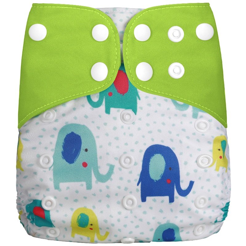 [Simfamily] 1 шт. рекламный тканевый подгузник, многоразовые регулируемые детские подгузники большого размера, подходят для детей 3-15 кг