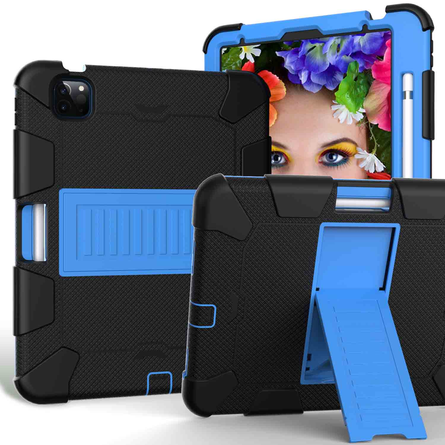7 Red Kids Tablet Case for iPad Air 4 10 9 inch 2020 Heavy Duty Hybird Shockproof PC