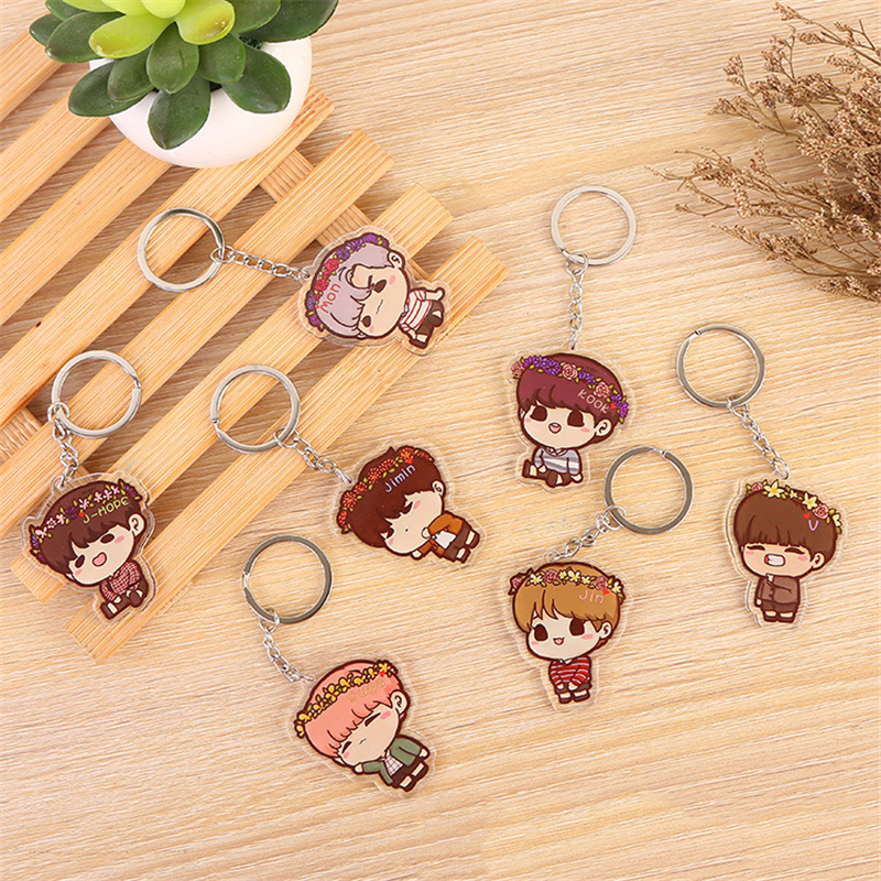 Fashion Trendy Keychain Key Ring Cute Cartoon Keyring For Women Men Jewelry Key Chain Bag llaveros(China)