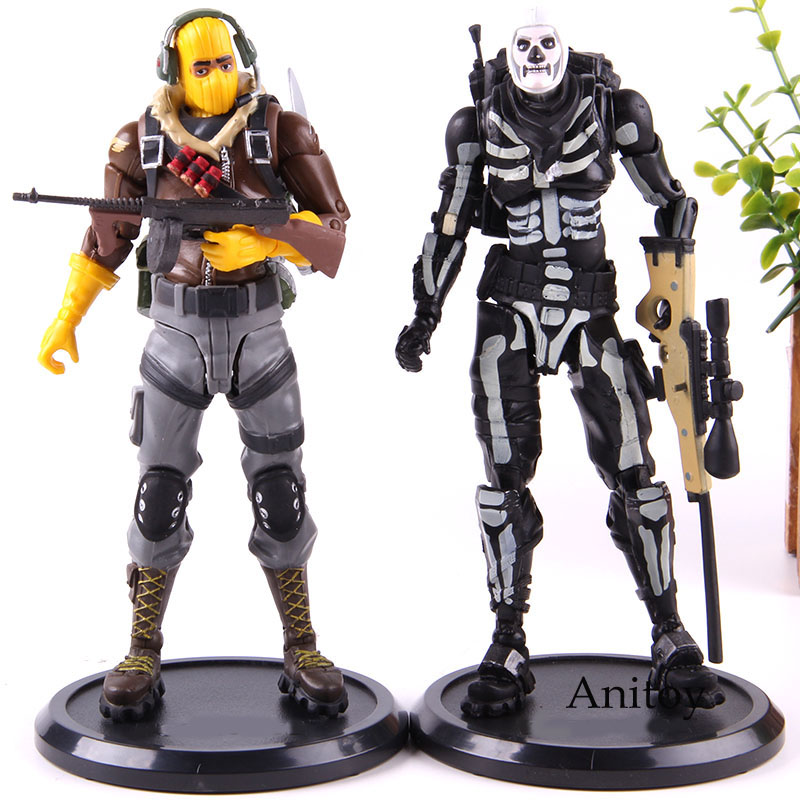 Action Figure Raptor / Skull Trooper Fortress Night Battle Royale PVC Hot Game Collection Model Toy Gift for Kids 1