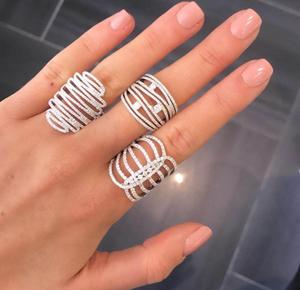 Image 2 - GODKI 2019 Trendy Stacks Charm Statement Ring for Women  Cubic Zircon Finger Rings Beads Charm Ring Bohemian Beach Jewelry