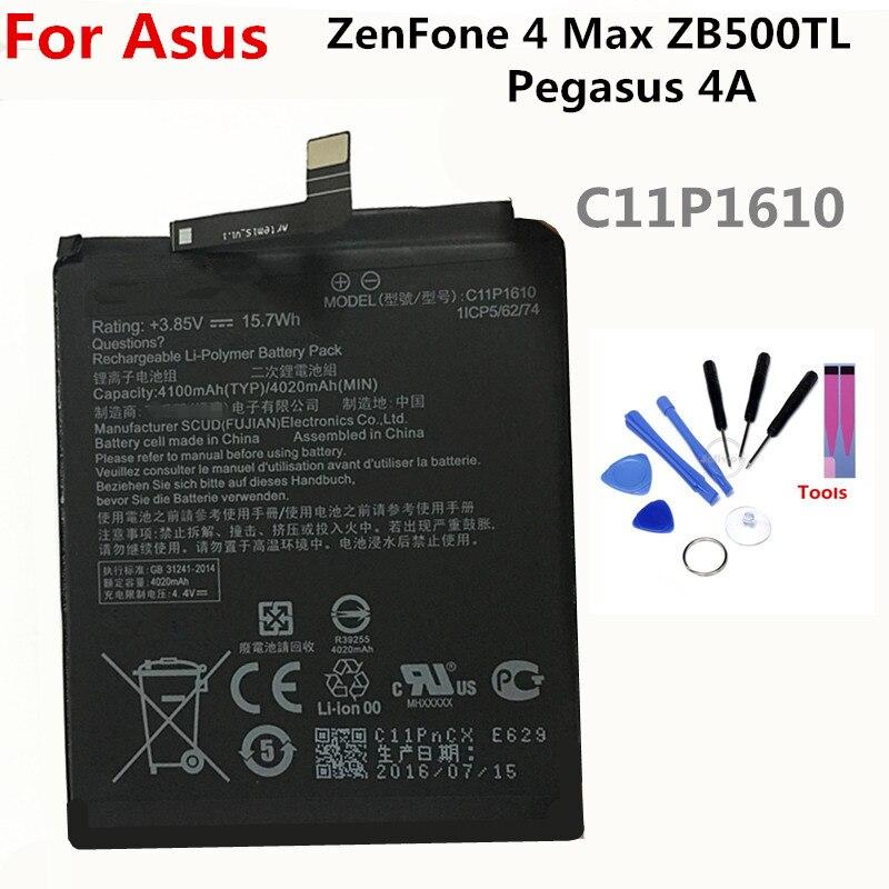 C11P1610 battery  For ASUS Zenfone 4 Max Pegasus 4A ZB500TL X00KD 4100mAh lithium li-ion polymer High capacit