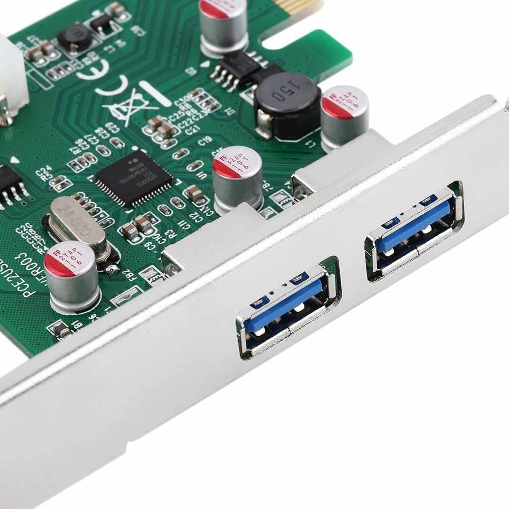 Nuevo adaptador de tarjeta PCI-E PCI Express de 2 puertos USB 3,0 con USB 3,0, promoción novedosa