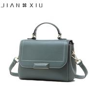 JIANXIU Brand Genuine Leather Handbags Litchi Texture Women Messenger Bags Famous Brands Handbag 2019 Shoulder Bag Tote 2 Colors