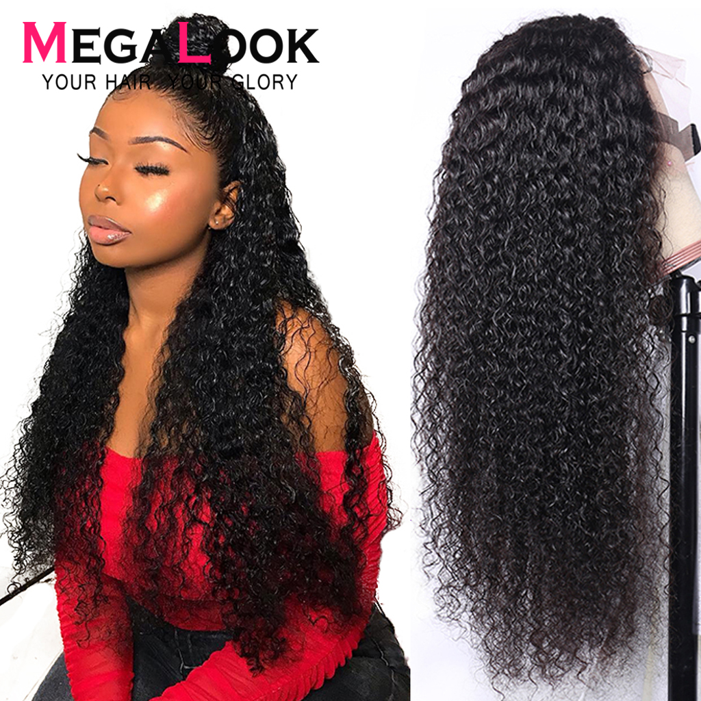 4X4 6x6 13x4 Lace Closure Wig Lace Wig 180% Brazilian Wigs Human Hair Closure Wig Remy 30 Inch Wig Kinky Curly Human Hair Wig