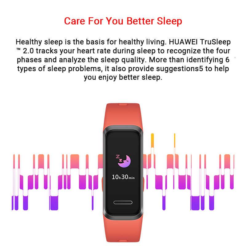 الأصلي هواوي الفرقة 4 الذكية معصمه 0.95 ''اللون USB-داخل AMOLED شاشة القلب معدل تتبع الصحية النوم المفاجئة حزام (استيك) ساعة