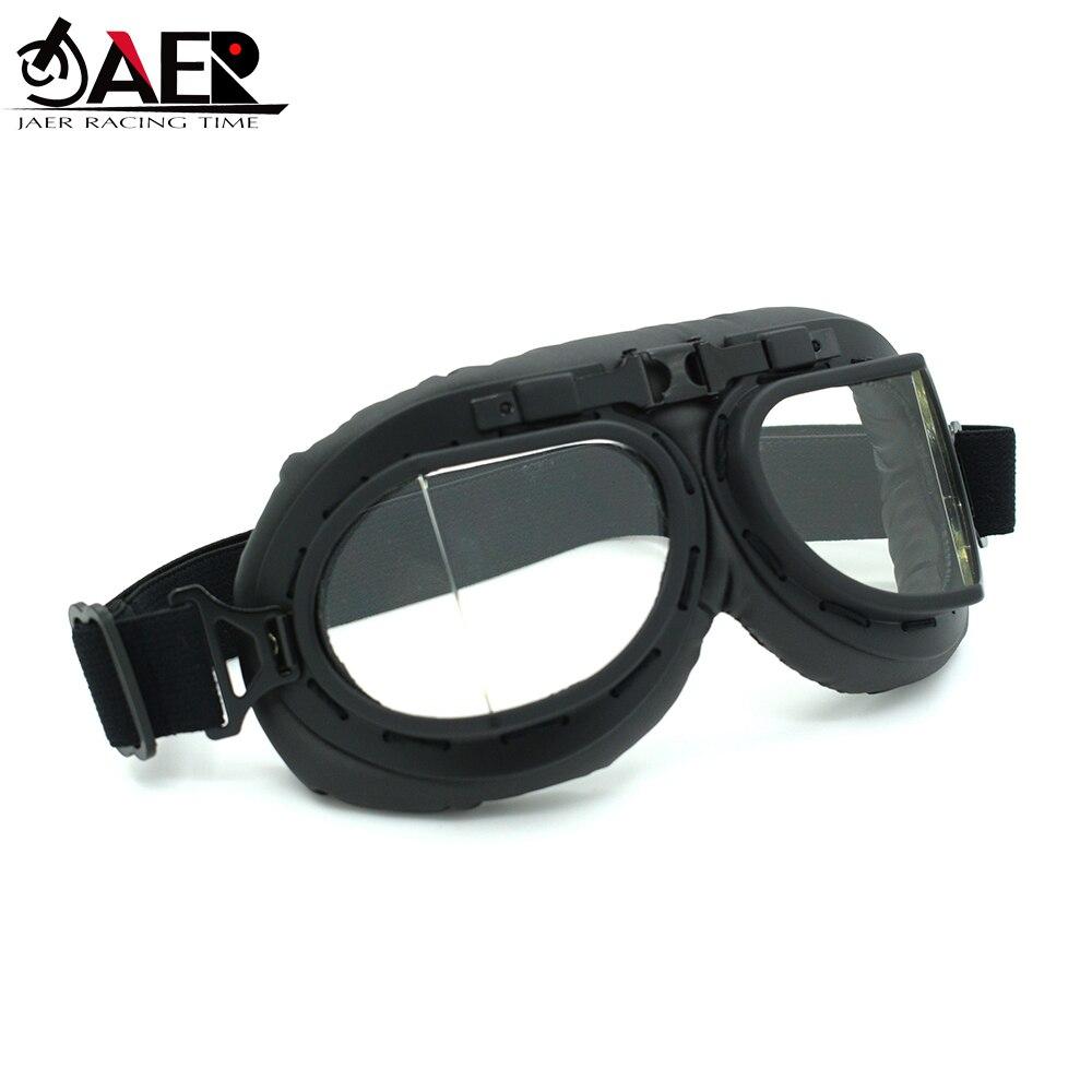 JAER Vintage Motorcycle Goggles for Motorbike Helmet Goggles Pilot Cruiser Goggles Glasses Sunglasses Eyeglasses