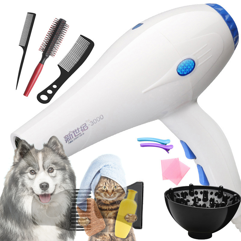 Household Portable Hair Dryer Pet Blower Electric Pet Grooming Dryer Hot/Cold Wind Low Noise Hair Dryer For Dogs