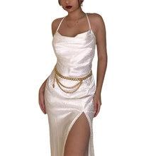Женское элегантное платье на бретелях спагетти модель 2020 года