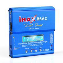 IMAX B6 التيار المتناوب 80 واط B6AC RC شاحن 6A المزدوج قناة شاحن ميزان ليثيوم أيون Nimh Nicd يبو بطارية شاشة عرض بلورية رقمية مفرغ