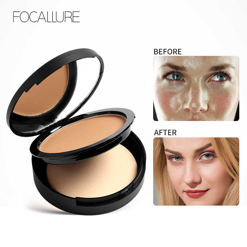 FOCALLURE Face Powder MatteสดใสBronzer Highlighter Palette Make Up Oil Control Pressed Powder Contourเครื่องสำอางค์แต่งหน้า