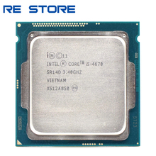 משמש Intel Core i5 4670 3.4GHz 6MB Socket LGA 1150 Quad Core מעבד מעבד SR14D