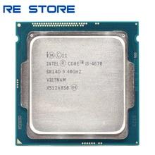 Intel core i5 quad core, processador de 4670 ghz 6mb de soquete lga 3.4 sr14d