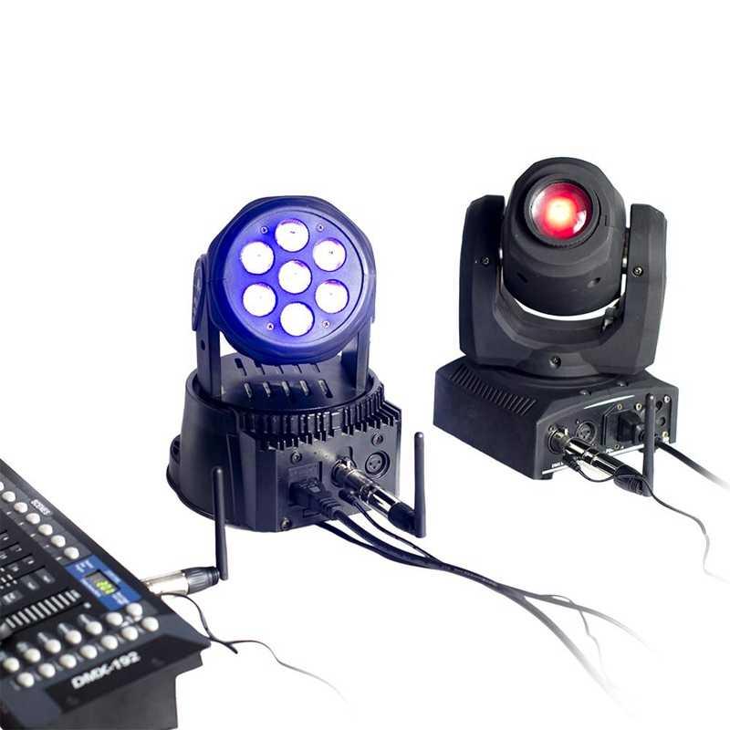 Dmx512 2.4G Ism Wireless 5Pcs Transmitter Receiver Kit For Party Dj Show Club Disco Ktv Stage Light