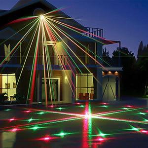Image 5 - 2021 Новогодние украшения Рождественский светильник s открытый звездный Сказочный душ с подсветкой светильник 24 большие узоры Динамический Двухцветный лазерный проектор