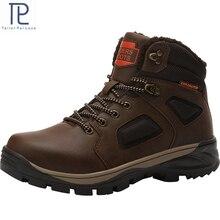 موضة الرجال الشتاء الثلوج الأحذية الدفء الأحذية أفخم حذاء بوت بطول الكاحل أحذية عمل الثلوج الرجال عادية الثلوج الأحذية حجم 40 46