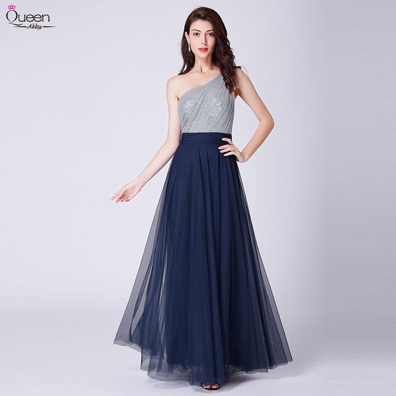Elegant Long Prom Dress Sexy A-line One Shoulder Backless Floor-Length Formal Evening Dresses