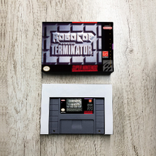 RoboCop versus The Terminator   USA Version Action Game Card with Retail Box