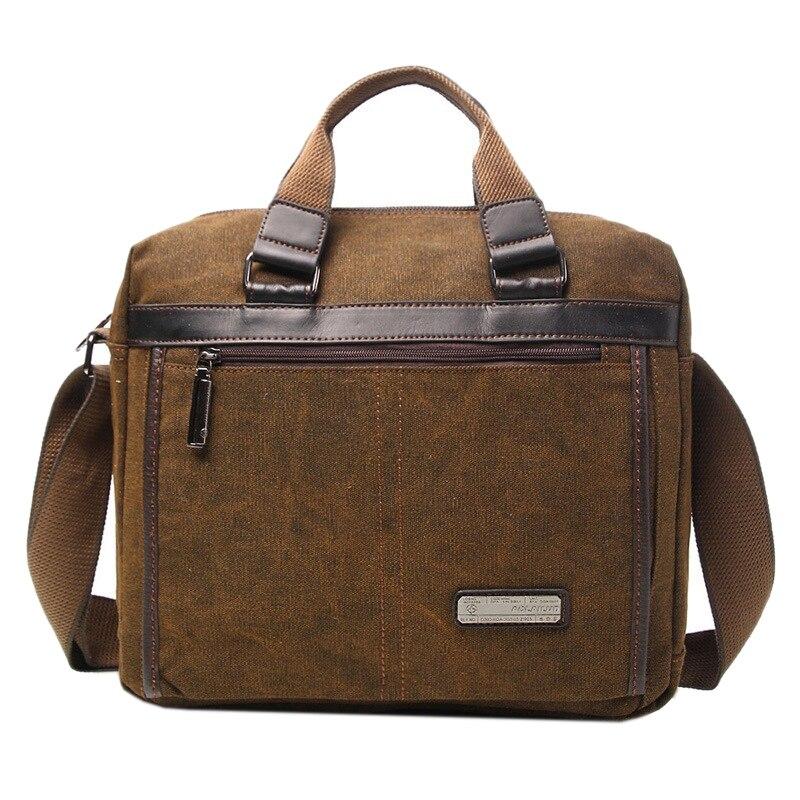 AOLAILUDI Durable Waterproof Canvas Men Handbag Travel Male Laptop Book Male Cross Body Shoulder Messenger Bag