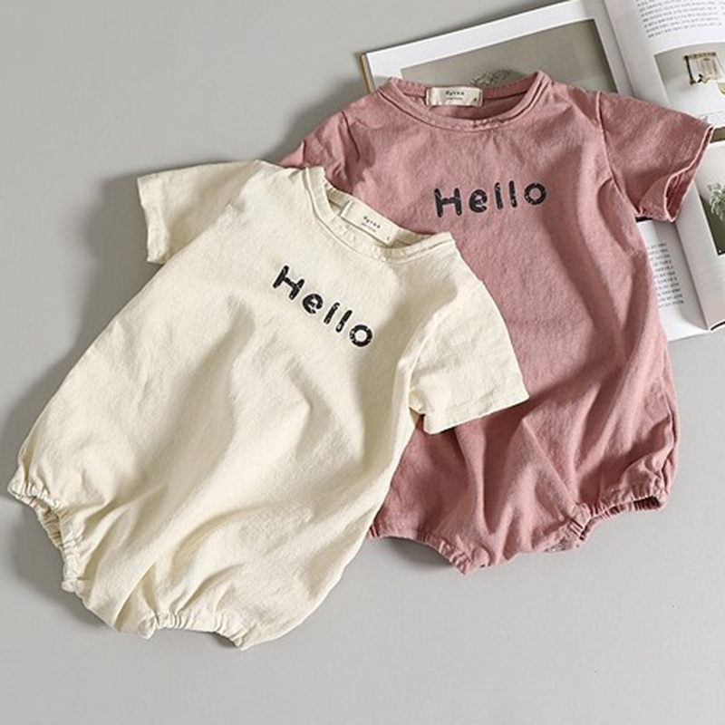 2020 New Summer Baby Girls Boys Cotton Romper Korean Japan Style Newborn Boys Girls Short Sleeve Jumpsuit Toddler Girl Romper