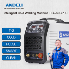 ANDELI TIG Welding Machine TIG-250GPLC TIG/COLD/PULSE/CLEAN/Gold Silver Welding 5 in 1 TIG Welder Cold Welding 220V/110V Optiona