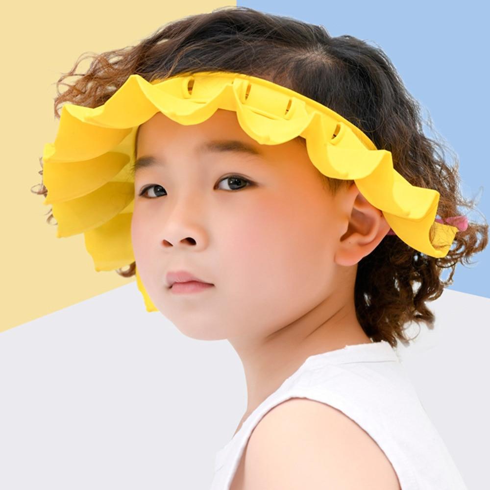 Kids Shampoo Shower Bathing Cap Bath Protect Adjustable Cap for Baby Wash Hair Shield Children Bathing Hat