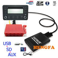 Yatour YT-M06 Car CD Digital Music Changer USB MP3 AUX adattatore Per VW Gamma 4 Unità di Testa 10-Spille yt-m06