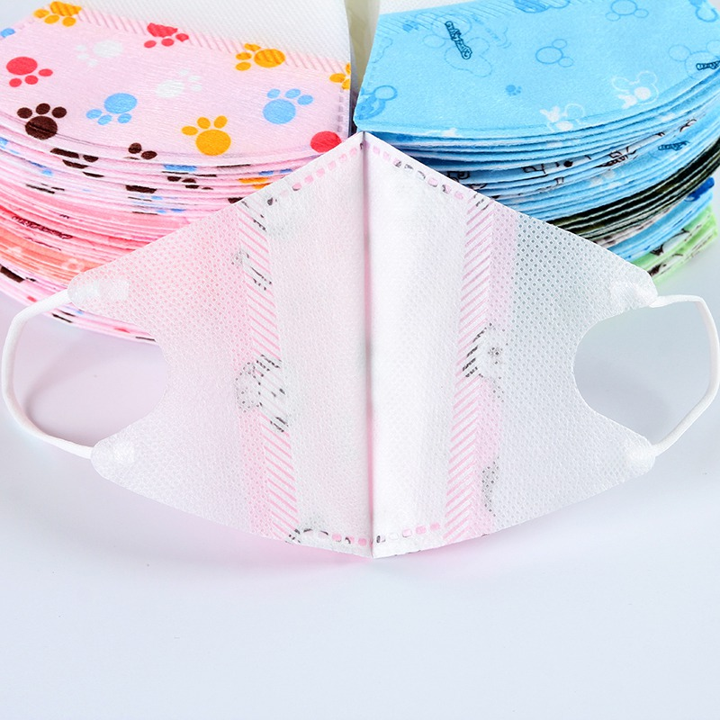 Image 5 - 5pcs/lot Cartoon Printed Non Woven Mouth Face Masks Child Kids 