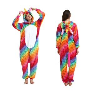 Image 5 - AFEENYRK unicorn Womens Soft comfortable Pajamas Set Sleepwear Loungewear Pajamas Unisex Homewear For girl/ boys/Sleepwear Adult