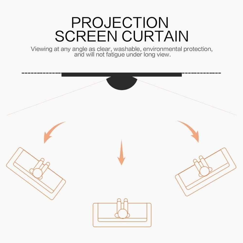 4:3 프로젝션 스크린 커튼 40/50/60/72/84/92/100/106 인치 부직포 흰색 소프트 KTV 바 회의실