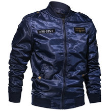 European Style Man Bomber Jackets Overcoats Pilot Mens Jacket and Coats 6XL Fight Mens Coats Summer Embroidery Streetwear A636(China)