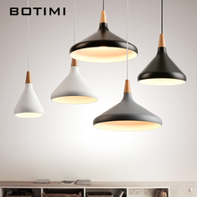 BOTIMI Nordic Retro Pendant Lights For Dining Kitchen Lampadario Vintage Metal Hanging Lamp Indoor Luminaria Light Fixtures