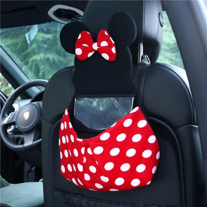 Mickey Mouse Doll Toys Car Accessories Sun Visor Sunshade Sunshield Organiser