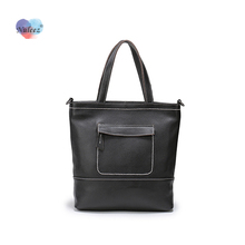 Nuleez винтажные женские сумки из натуральной кожи, большая сумка черного и кофейного цвета, повседневная женская сумка через плечо, сумки-мессенджеры из натуральной воловьей кожи