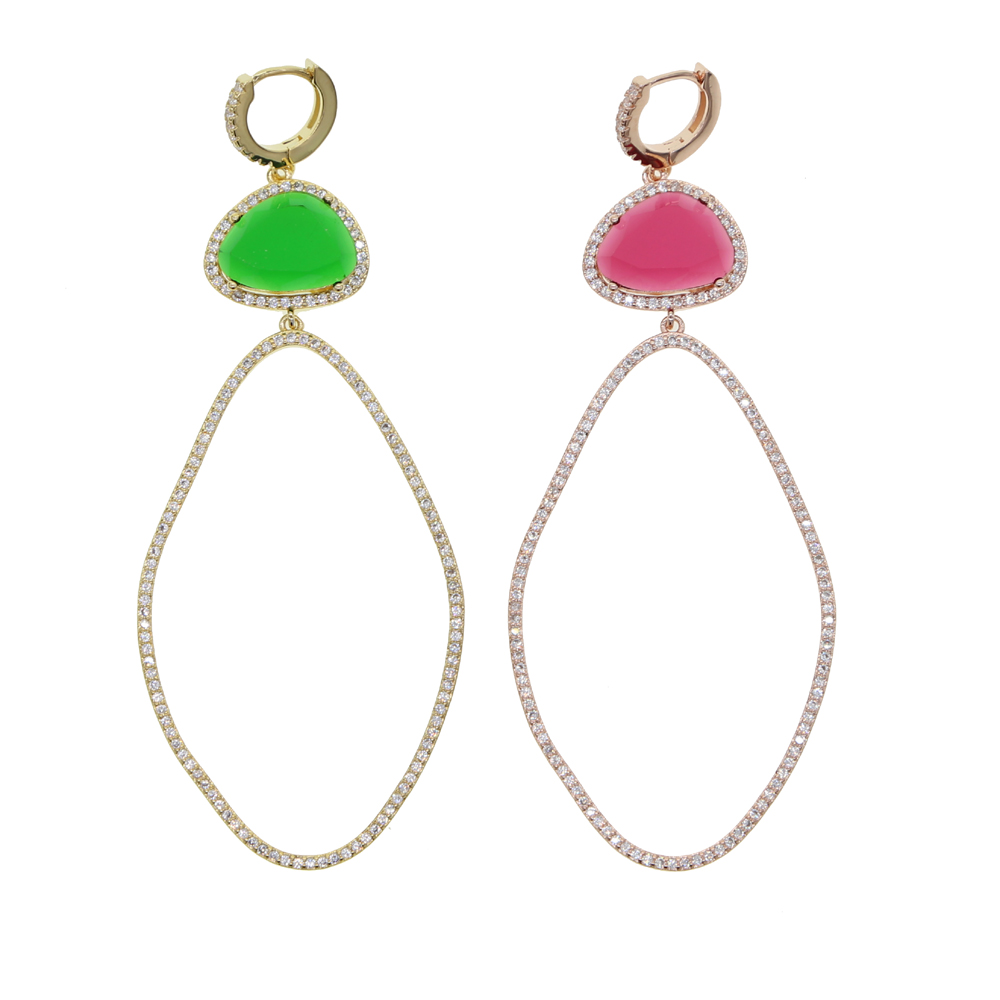 BRASS drop earring Y (12)