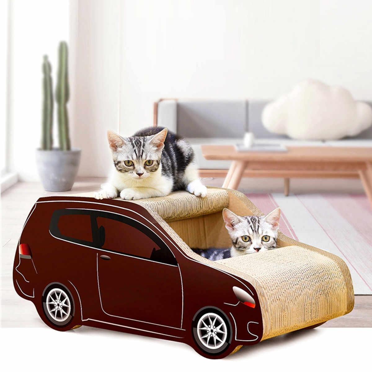 Dom dla kotów miękka poduszka legowisko dla kota z kotami zabawki przenośne dla zwierząt domowych domu 3 Tier dom zabaw mieszkanie salon łóżko drewniane kolor nowy