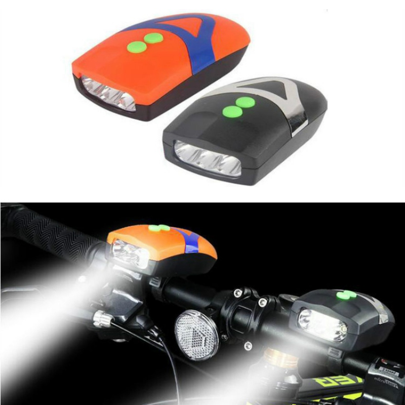 2 In 1 Bicycle Headlight LED Bike Light Front With Bell Bike Headlamp 4-sounds Alarmed Speaker Flashlight Cycling Accessories
