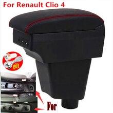 Para renault clio 4 braço para renault clio 3 iii iv caixa de apoio de braço do carro acessórios do carro caixa armazenamento titular copo cinzeiro usb