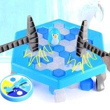 Пингвин ловушка спасти пингвина ледокол настольная игрушка Семья родитель, ребенок Интерактивная развлекательная игрушка сломать лед квадратный Молот Вечерние игры