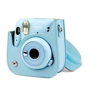 Image 2 - Futerał ochronny na aparat na ramię kolorowe wzory skórzana torba na aparat do Fujifilm Instax Polaroid Mini11 Mini 11 etui na torebki