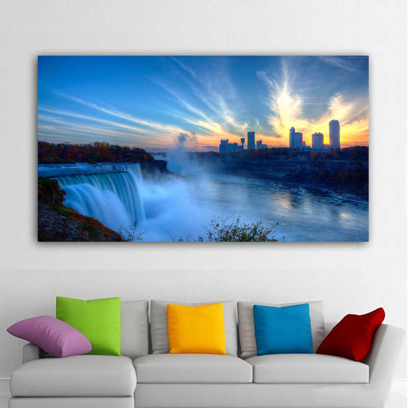 RELIABLI ART Posters And Prints Niagara Falls Canvas Painting Landscape Poster Home Decor Wall Art Pictures For Living Room