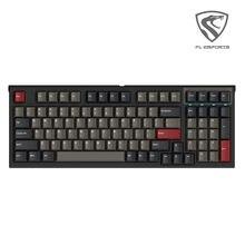 Fl · esports fl980 teclado mecânico 98-chave single-mode com fio fullkey eixo comutável pbt keycap computador jogo equipamentos de escritório
